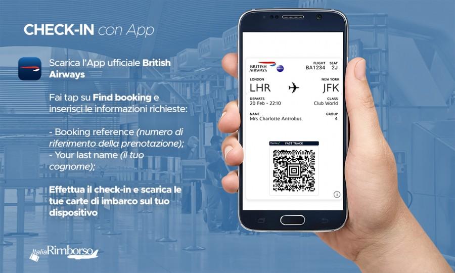 british airways check in app